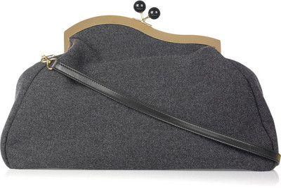 LOVE this!   Cant afford it...but I love it.                                                                        Miu Miu Asymmetric oversized wool-felt clutch