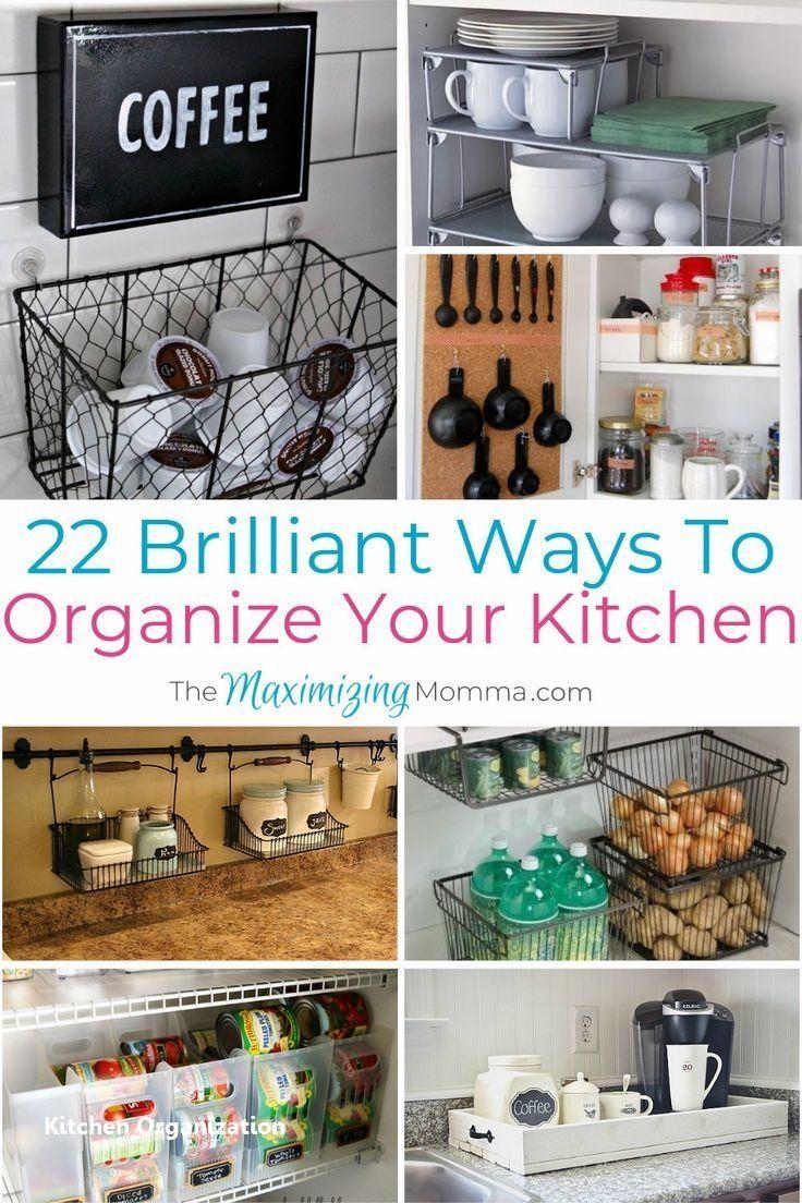 15 Creative Diy Storage And Organization Ideas For Small Kitchens 1 In 2020 Kitchen Hacks Organization Kitchen Organization Kitchen Organization Diy