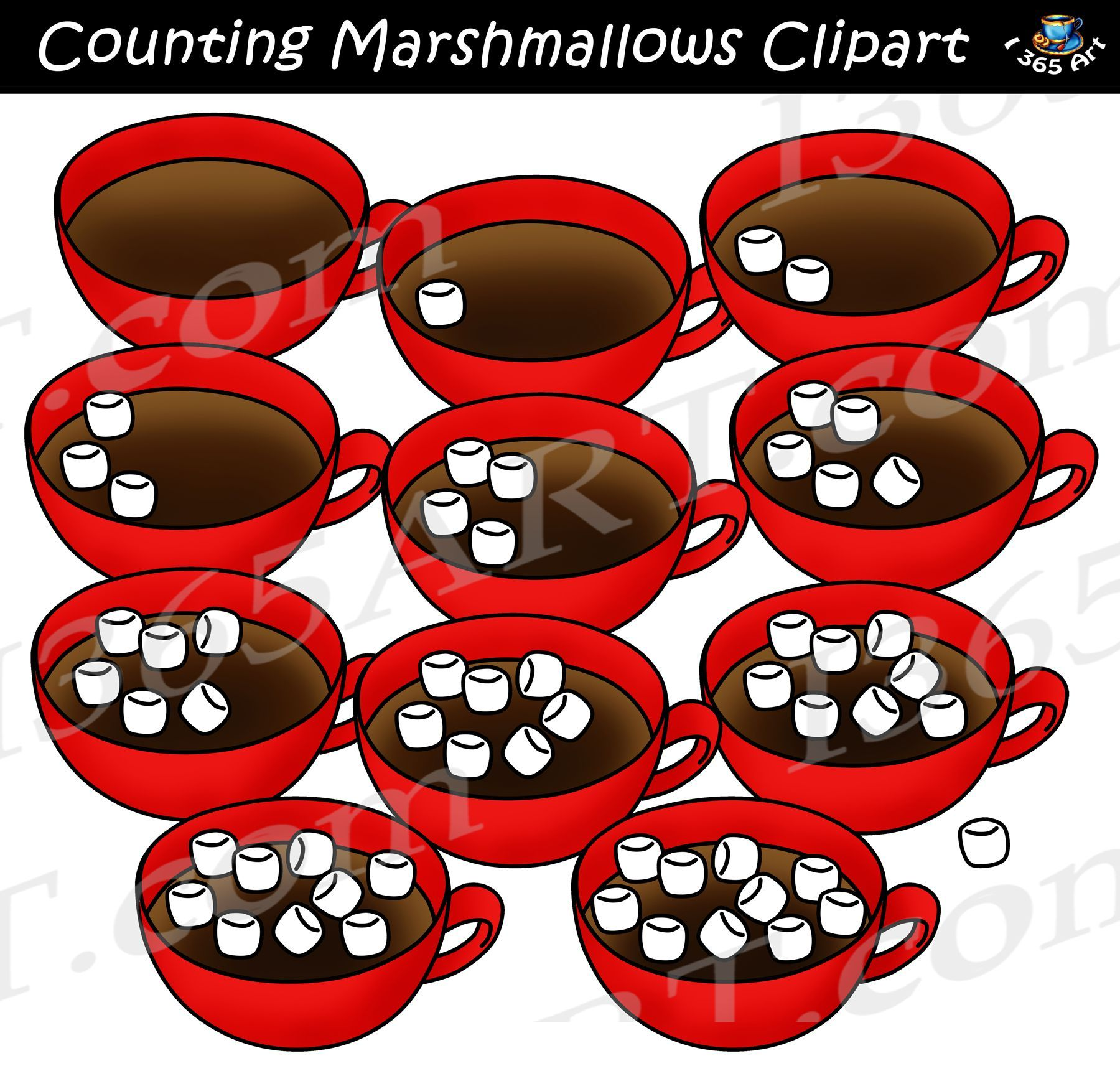Counting Marshmallows Clipart Download