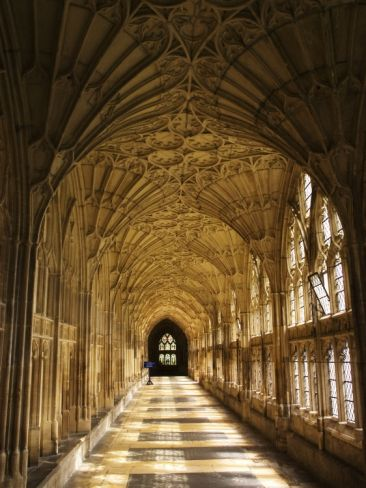 The Great Cloister At Gloucester Cathedral Gloucester United
