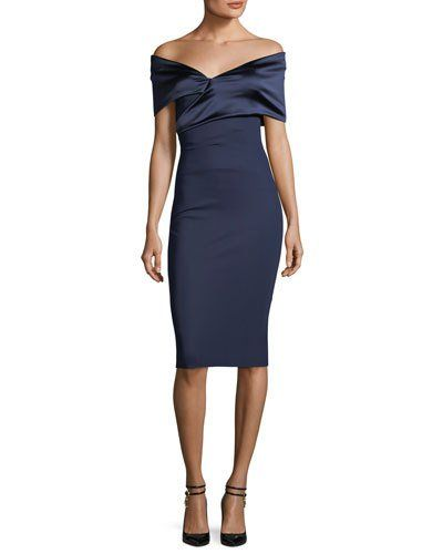 e8db89e420b Chiara Boni La Petite Robe Benje Off-the-Shoulder Cocktail Sheath Dress