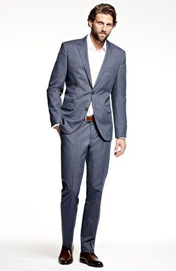 boss black \u0027sweet sharp\u0027 blue stripe suit men\u0027s clothing mens  boss black \u0027sweet sharp\u0027 blue stripe suit