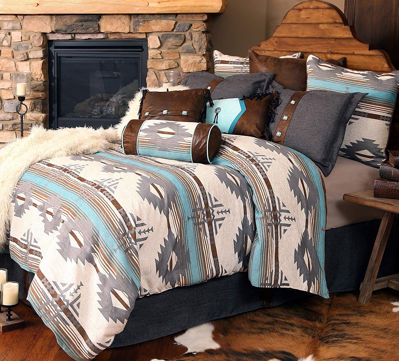 Rustic Western Southwestern Equestrian Decoration Comforter Set