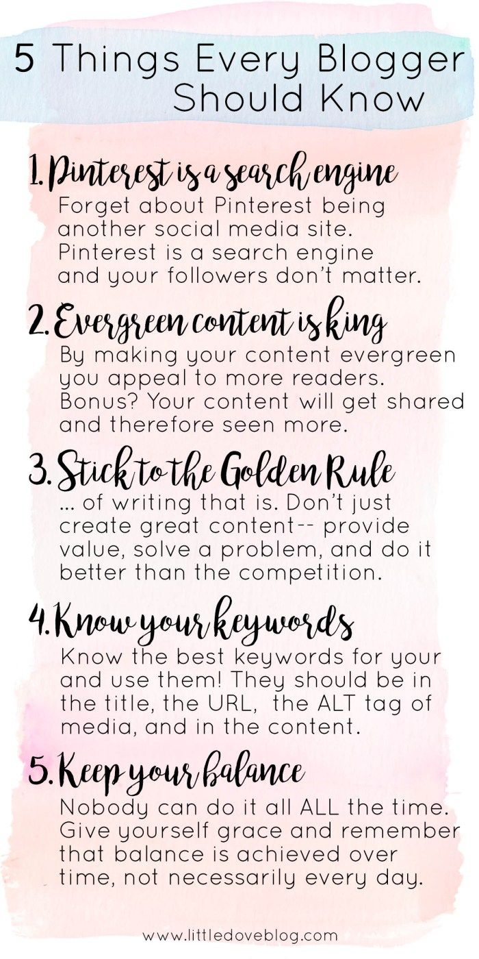 five things every blogger should know - Little Dov