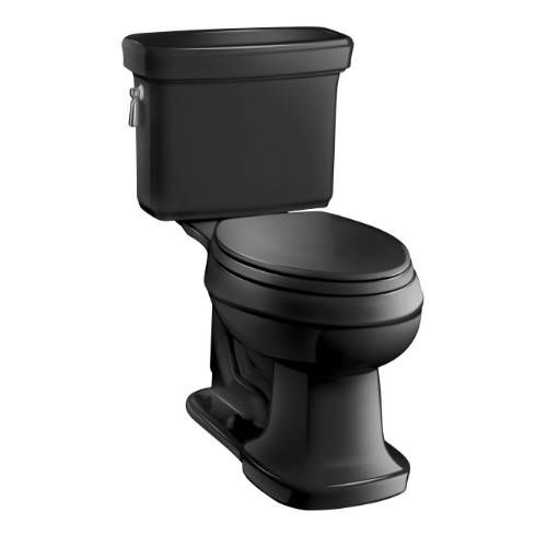 Kohler K-3827 Bancroft Vitreous China 1.28 GPF Class Five Gravity Flush Comfort Height Elongated Two Piece Toilet with 2-1/8