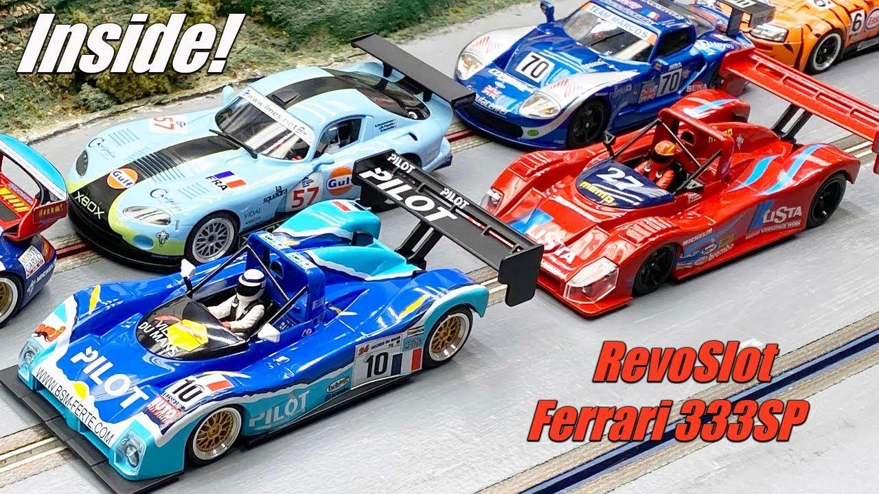 Under The Hood Revoslot Ferrari 333sp Ferrari Old Race Cars Slot Car Racing