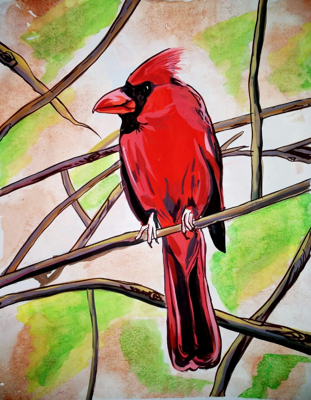 Bird Using Poster Colours Paintings Painting Poster Colour Art
