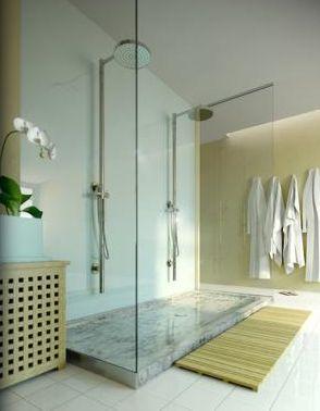 Bathroom Glass Shower Walls, Solid Surface Walls