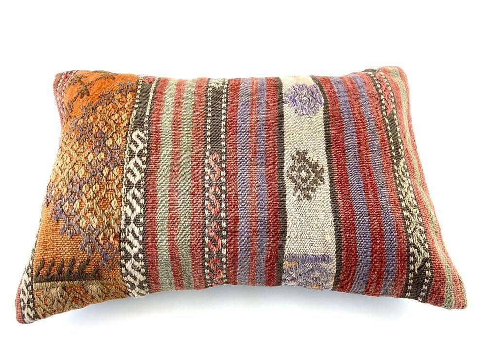 40x60 Cm Handgewebt Kelim Kissenbezug Vintage Kilim Cushion