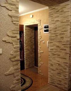 декоративный камень для внутренней отделки в коридоре фото ...