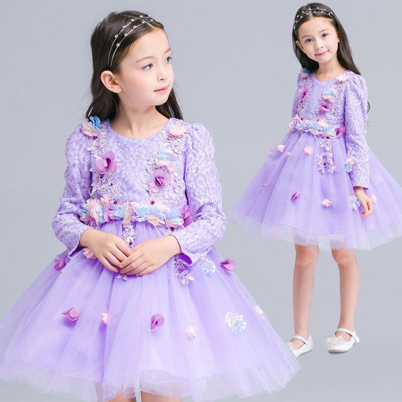 2016 European and American children\'s clothing girls princess dress ...