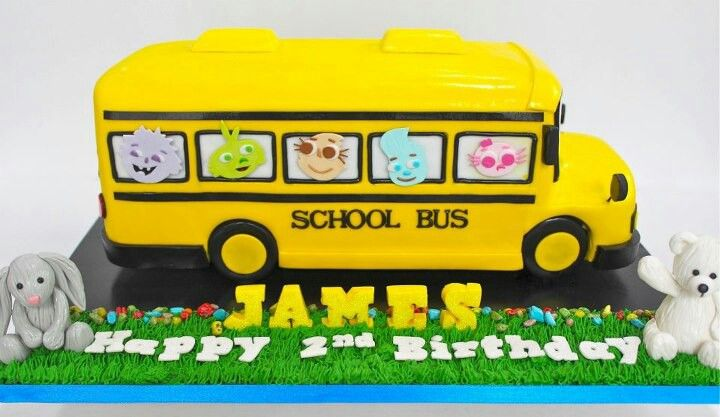 A School Bus Cake With Images Cute Birthday Cakes Bus Cake