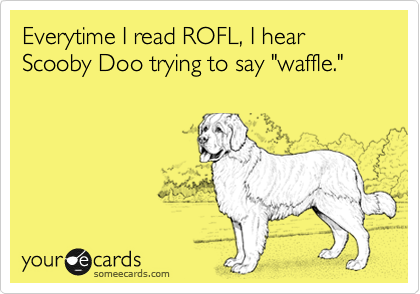 Everytime I Read Rofl I Hear Scooby Doo Trying To Say Waffle Dog Quotes I Love Dogs Dog Love