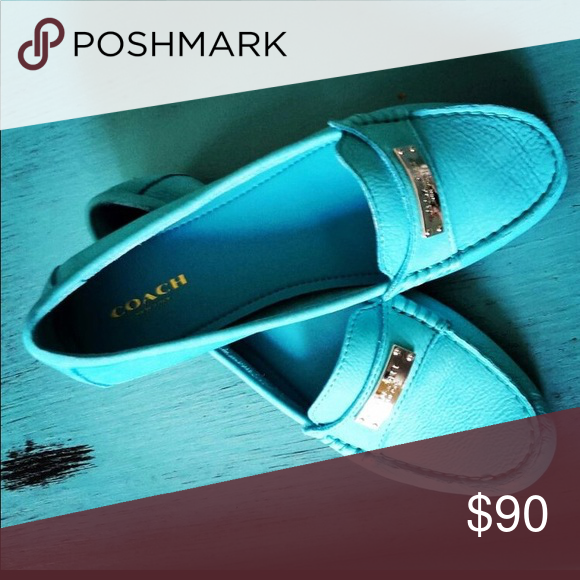 fc6231f688c Adorable Coach loafers Adorable Coach loafers sea foam green Coach Shoes  Flats   Loafers