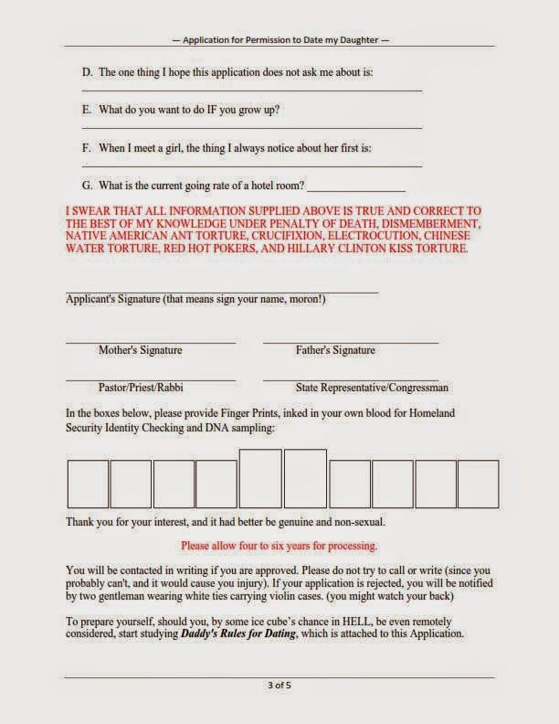 Dating your daughter application