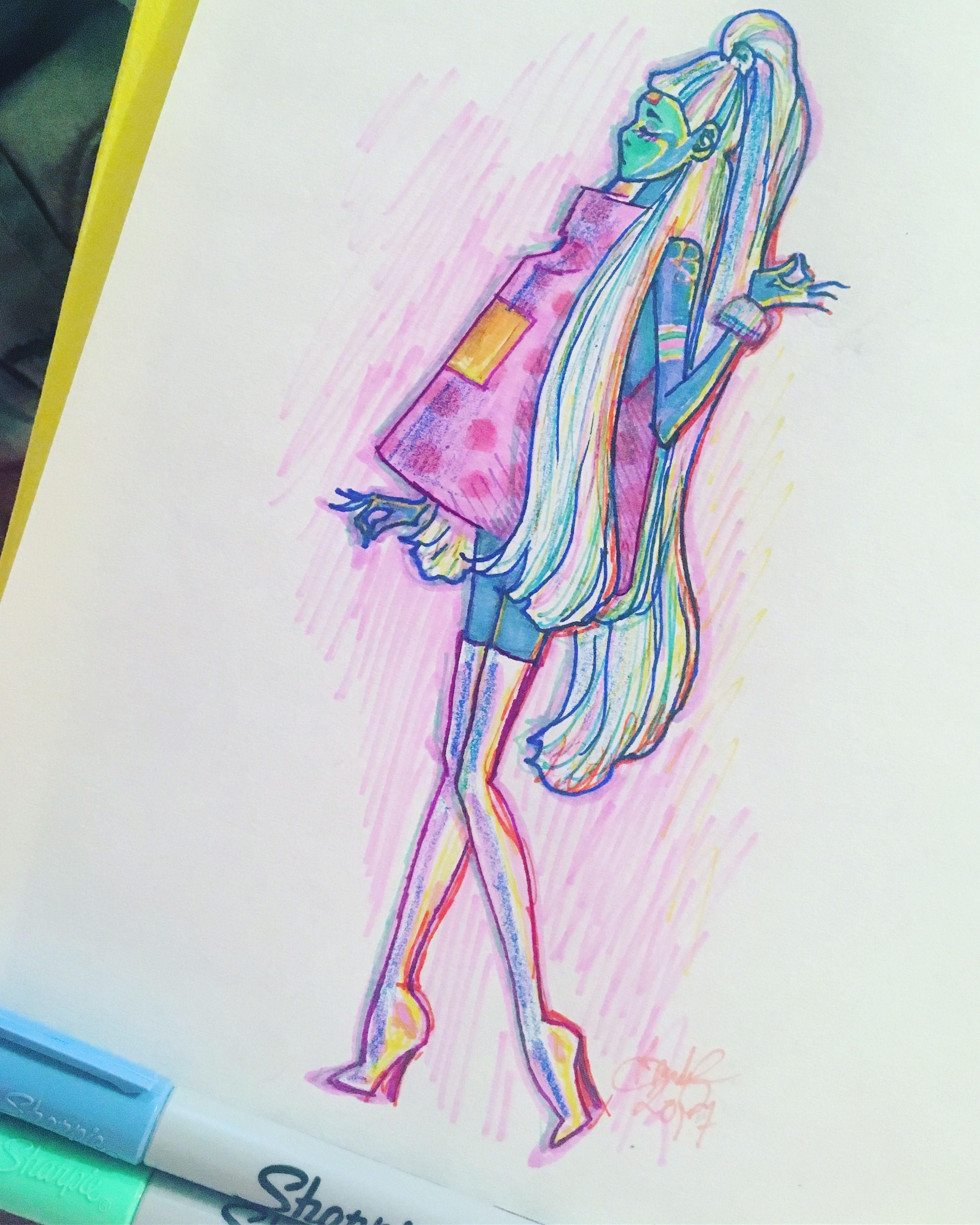 Drawing Art Doodle Sketch Figuredrawing Illustration Cartoon Fineart Vaporwave Pastel Fashion Art Drawings Painting