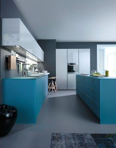 Farbe in der Küche Kochen in Meerblau Küche  - küche welche farbe