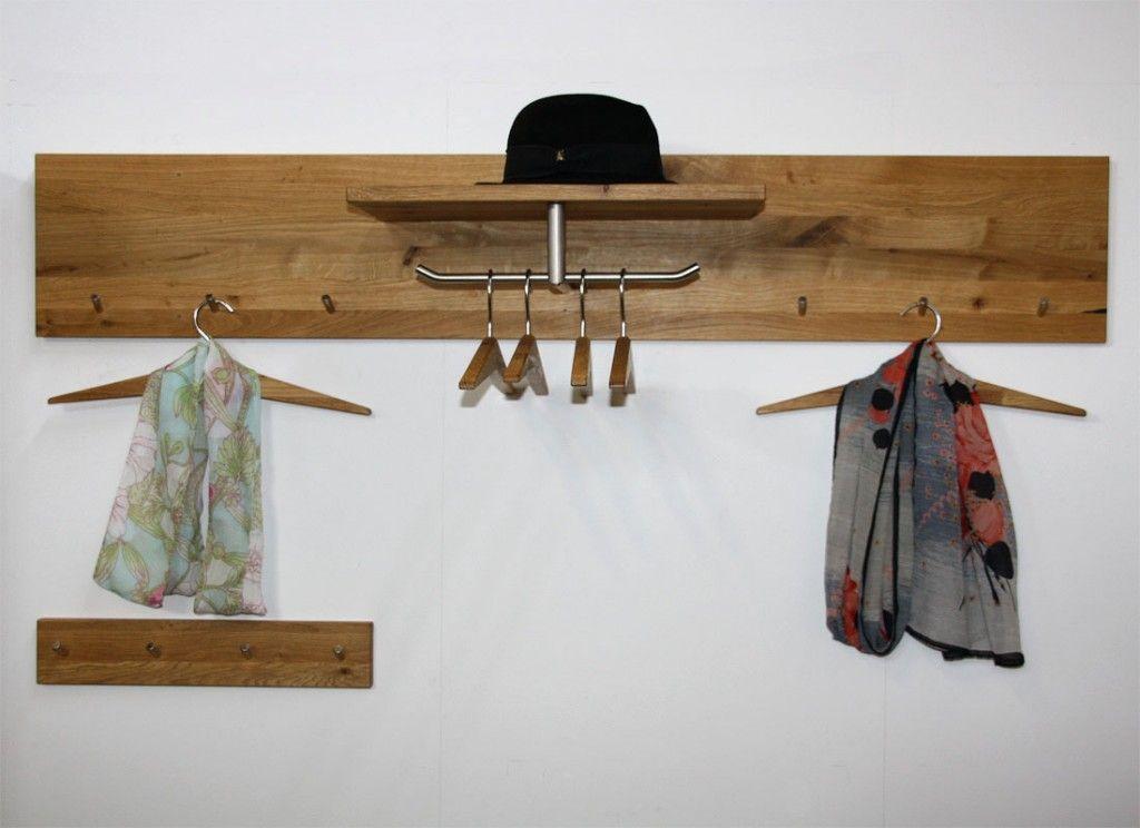 Garderobe Holz Massiv ~ Massivholz garderoben set kleiderbügel wildeiche massiv holz geölt