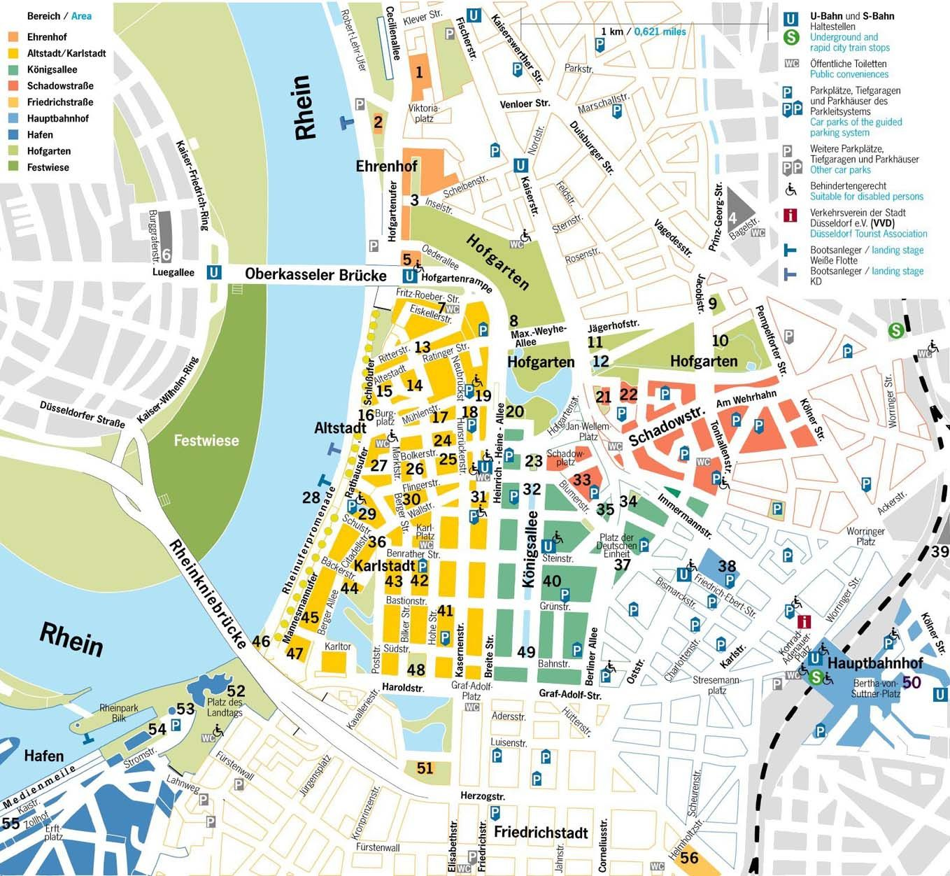 dusseldorf tourist map  tourist maps  pinterest  tourist map - dusseldorf tourist map
