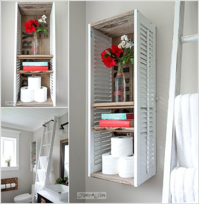 15 Clever Upcycled Bathroom Storage Projects 3 & 15 Clever Upcycled Bathroom Storage Projects 3 | decor | Pinterest ...