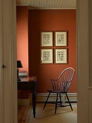 A Pennsylvania Farmhouse Historic Paint Colours Orange Walls