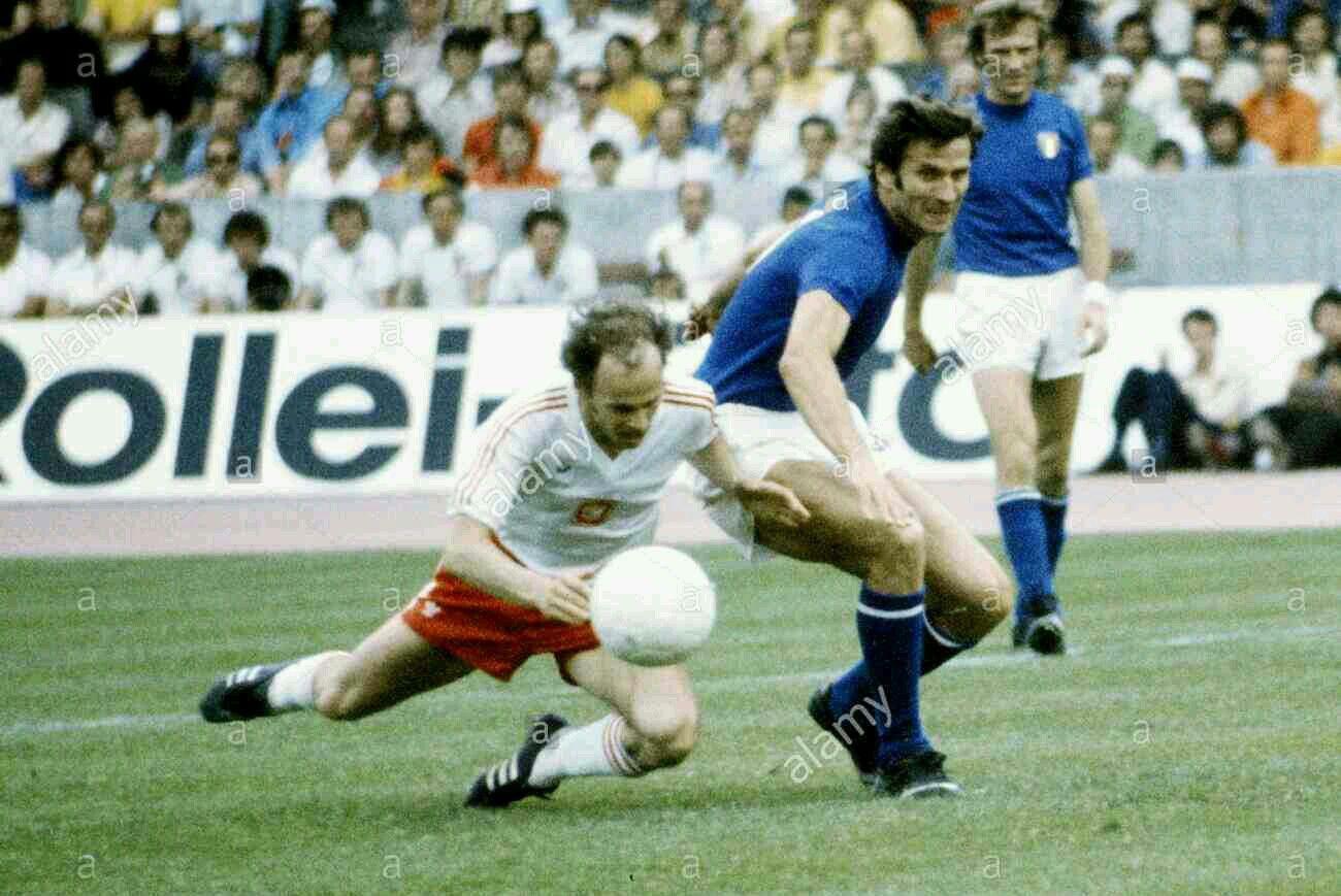 Poland 2 Italy 1 in 1974 in Stuttgart Italy captain Giacinto