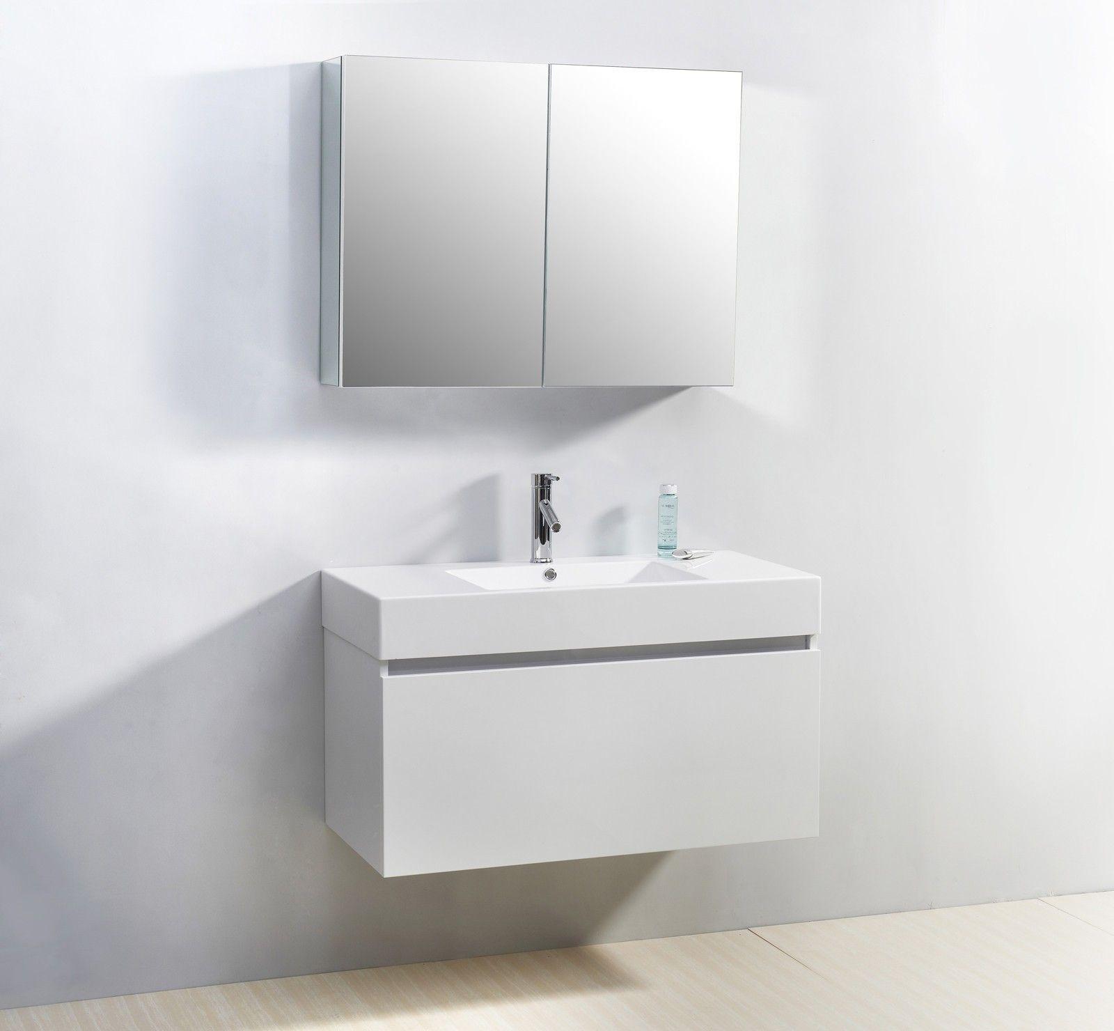 Badezimmer-eitelkeiten mit spiegeln moderne weiß badezimmer eitelkeiten  mehr auf unserer website