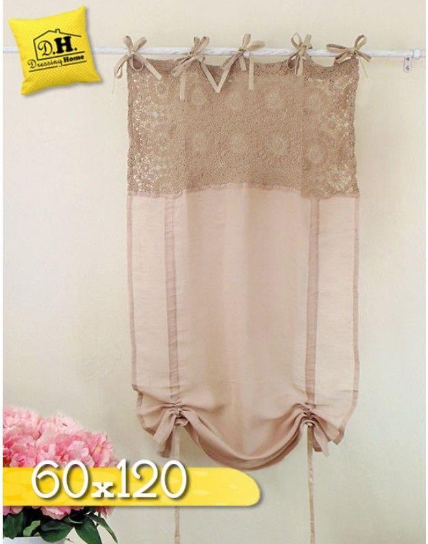 Tenda a pacchetto Shabby chic Blanc Mariclo 60 x 120 cm Colore Rosa ...