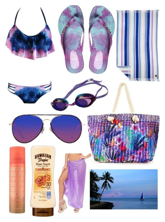 """Purple @ the Beach"" by pinkstars6 ❤ liked on Polyvore featuring Rusty, Ruby Mint, Speedo, Matthew Williamson, purple, beach and summer2016"