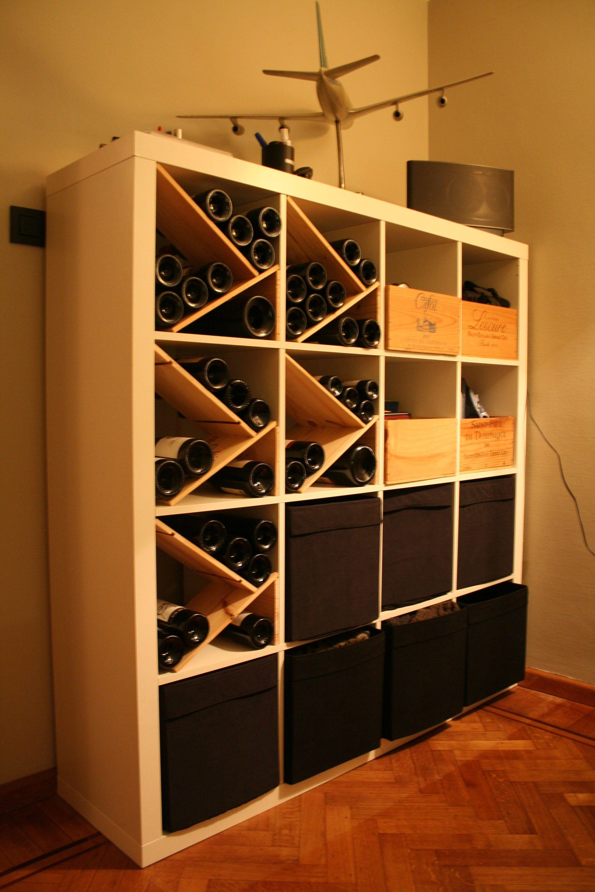Range Bouteille De Vin Créé à Partir Dun Meuble Ikéa Wine