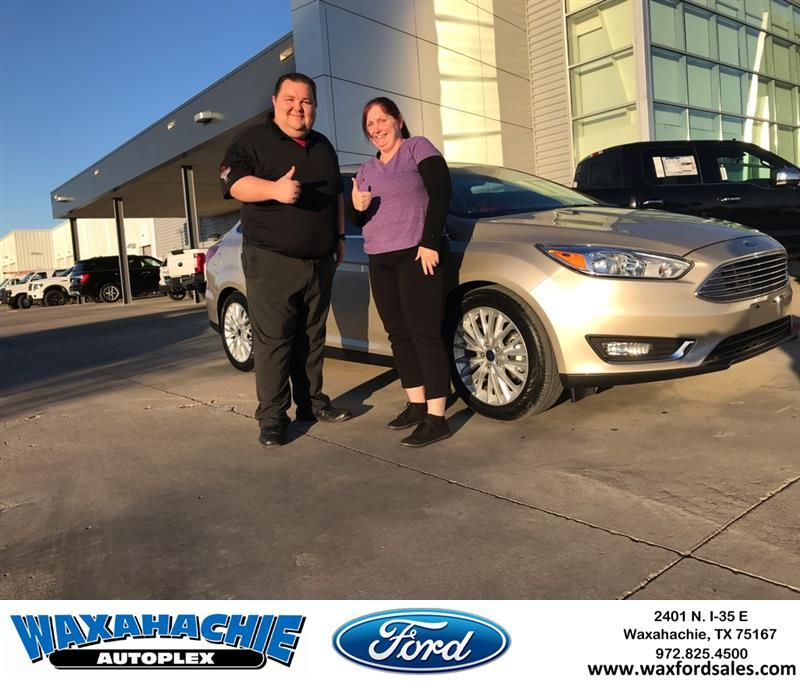 Congratulations Tracey On Your Ford Focus From Eric Nelson At