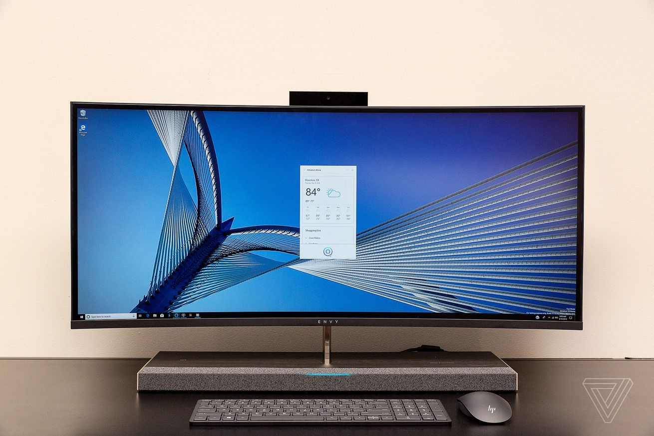 Hp Made An All In One Pc With Alexa Built In Hp Computers Computer Support Computer