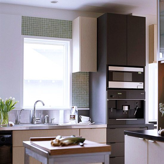 Make a Small Kitchen Look Larger Small kitchens, Latte machine and