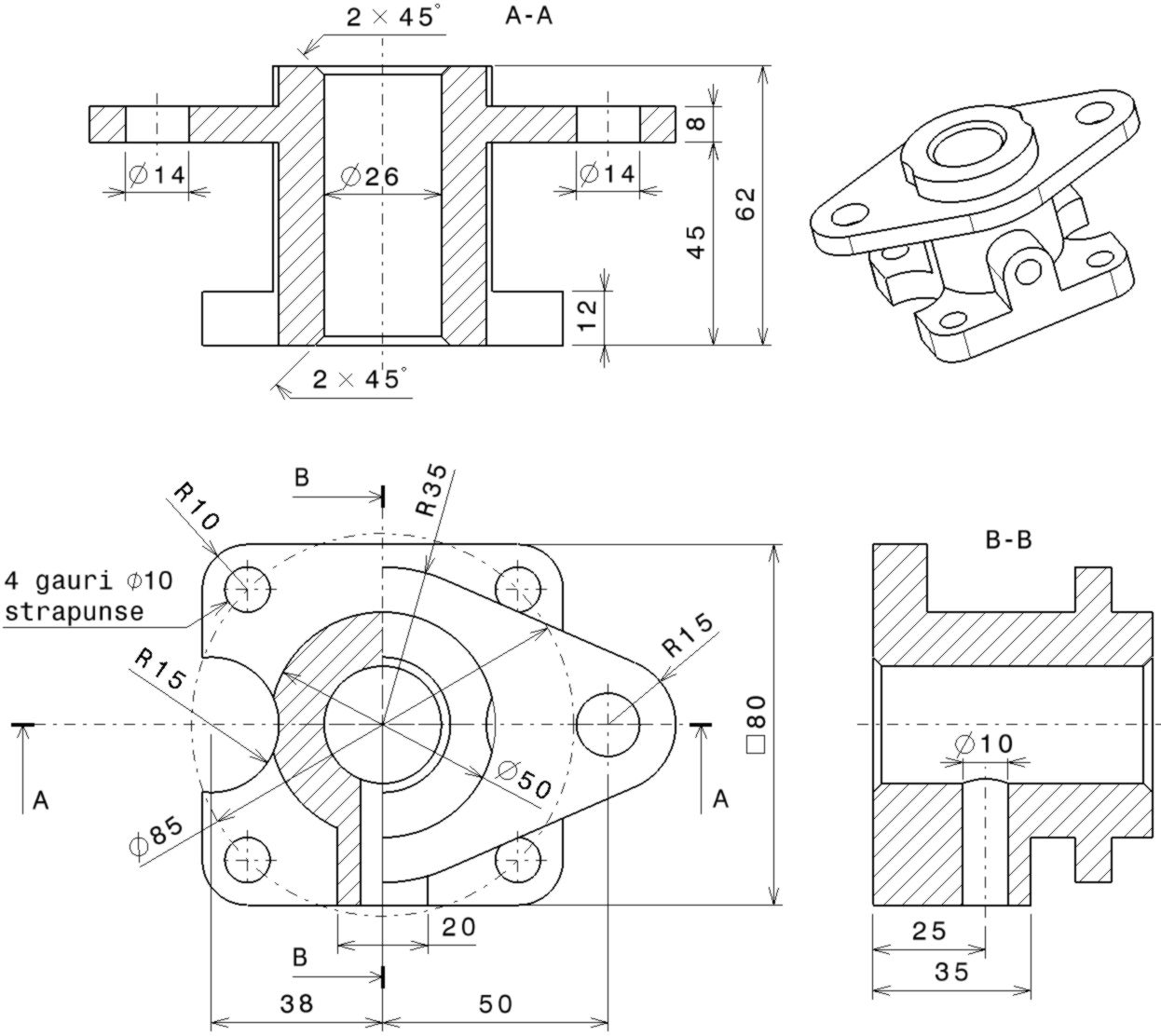 How To Create A Mechanical Part Using Catia Part Design In