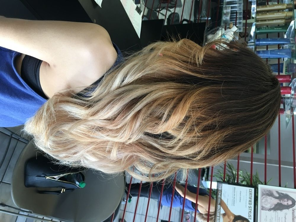 Ombre Highlights Hair Salon Services Best Prices Balayage Hair Salon Hair Highlights Dyed Hair