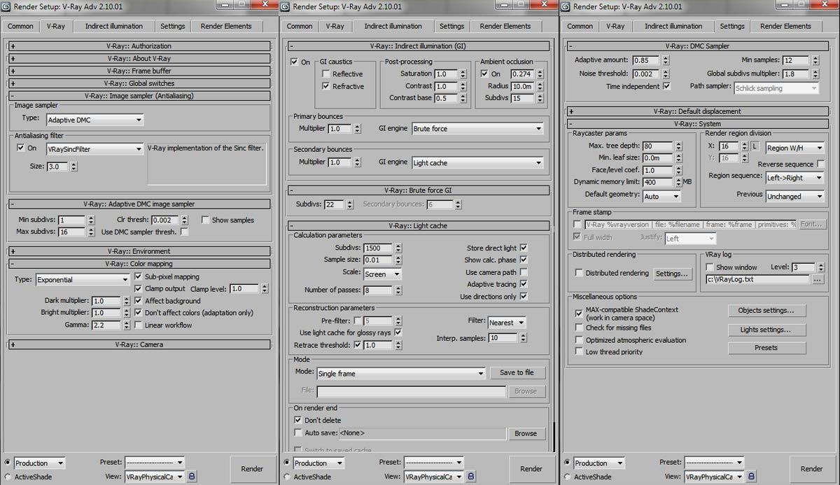 Vray hdri lighting setup tutorials pinterest - 3ds max vray render settings interior ...