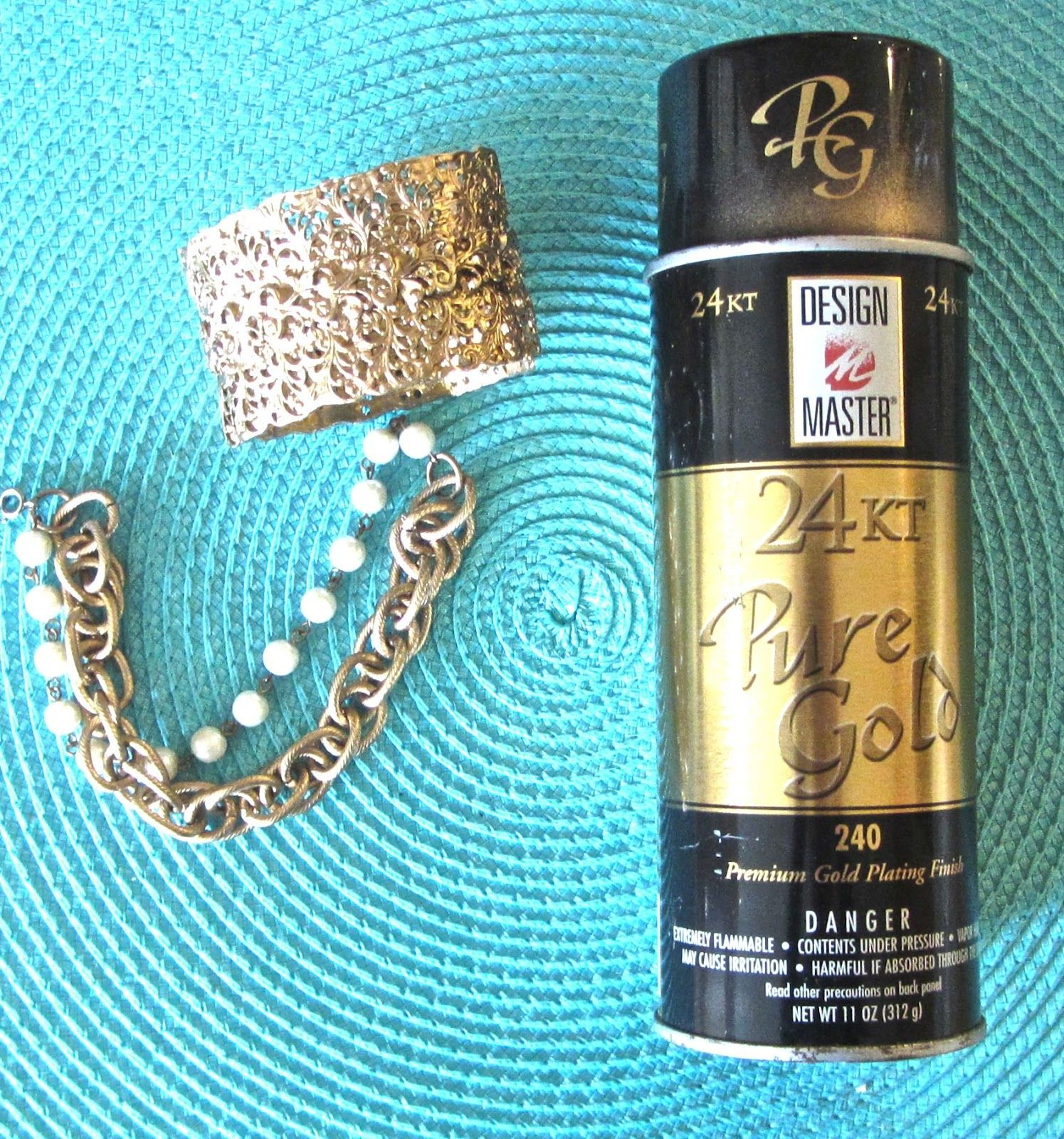 Town and Cottage Refurbish Gold Jewelry DIY Lovely Pinterest