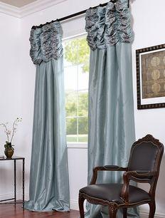 faux silk taffeta curtains ruched