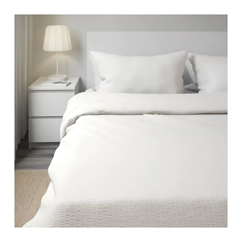 IKEA OFELIA VASS White Duvet cover and pillowcase(s