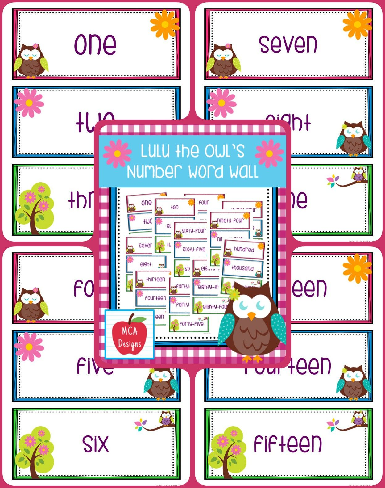 Owl Number Word Wall