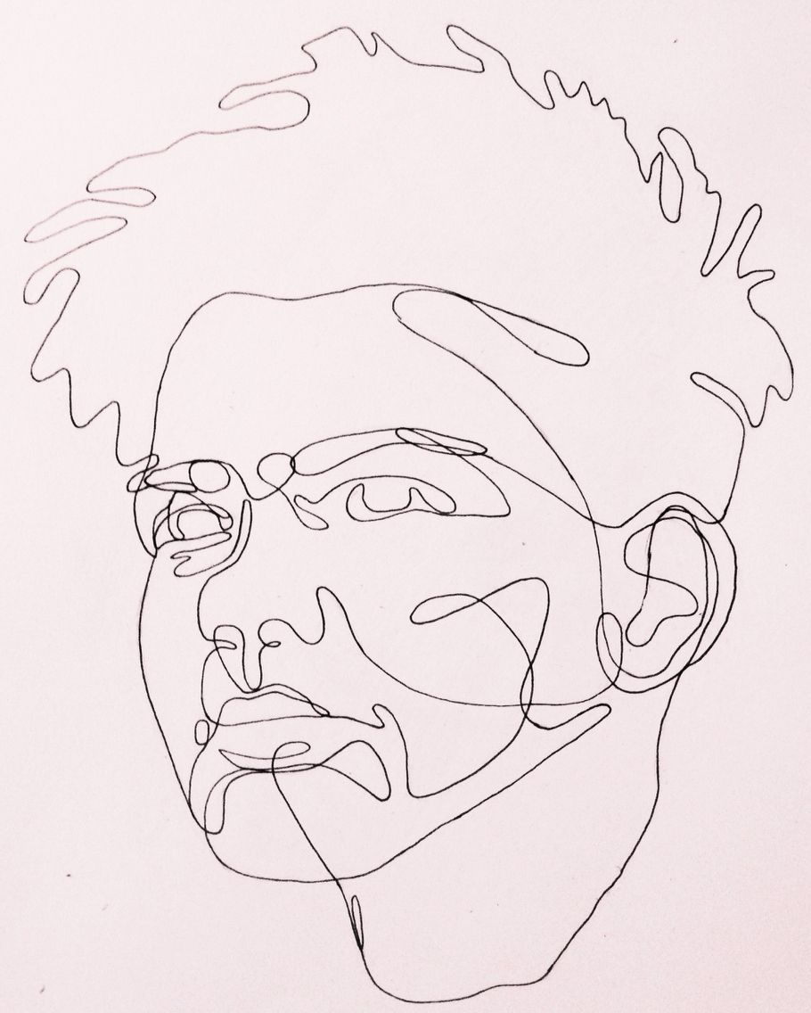 Continuous Line Drawing Of Face : G seymour continuous line drawing portrait … pinteres…