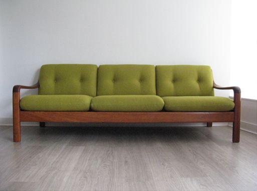 A Danish teak 3 seater sofa  Reupholstered with Bute wool fabric  New  webbing A Danish teak 3 seater sofa  Reupholstered with Bute wool fabric  . Mid Century Sofa Buy Uk. Home Design Ideas