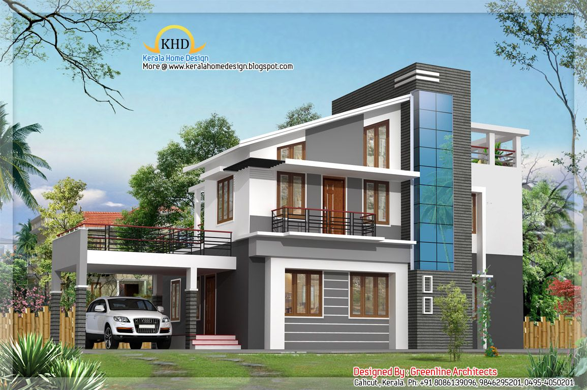 Image detail for 1925 sq ft kerala home design for Types of duplex houses