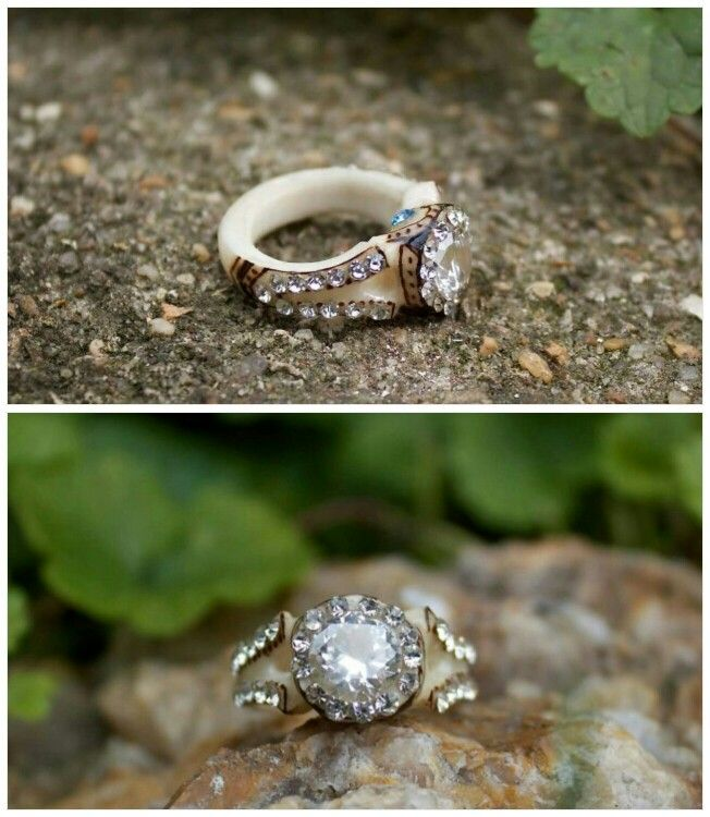 Love This Ring Made Out of Deer Antler Accessories Pinterest