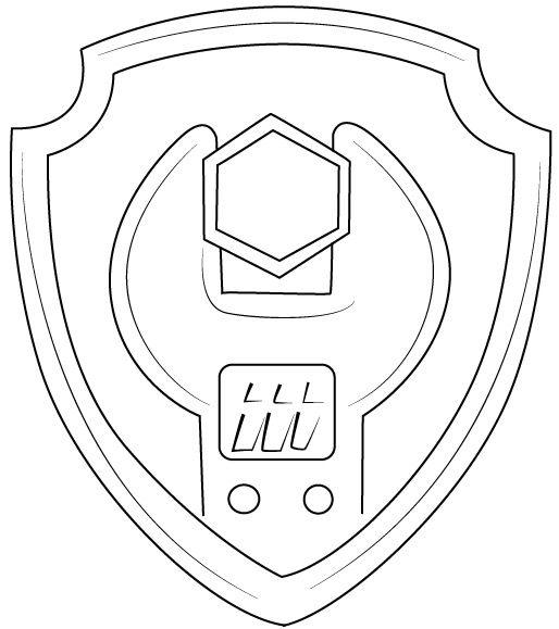 Paw Patrol Zumau0027s Badge Coloring Page EZ 1st Pz 3rd Bday   514x579   Jpeg