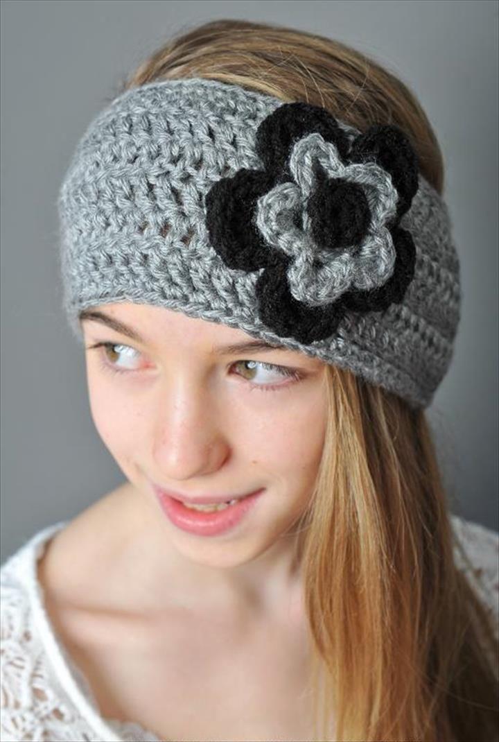 15 Easy Crochet Headband With Flowers Hekelgoed Pinterest