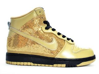 Nike Dunks Nike Dunk Skinny Sequin Gold Nikes