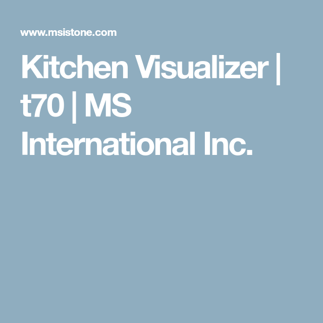 Interactive Kitchen Design Free: MS International Inc.