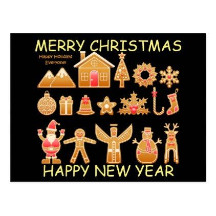 holiday christmas greetings new year card