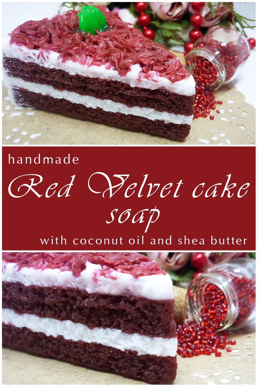 Red Velvet Cake Soap, Cheesecake Soap, Cake Soap, Dessert